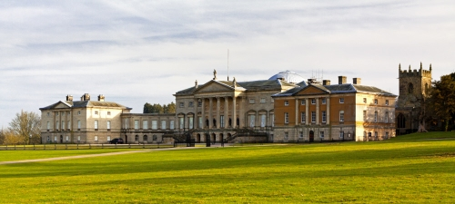 The north front of Kedleston Hall, Derbyshire.